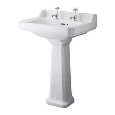 Butler & Rose Catherine 600mm 2 Tap Hole Basin & Pedestal